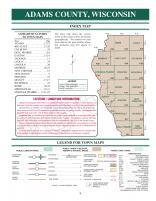 Index Map, Adams County 2007